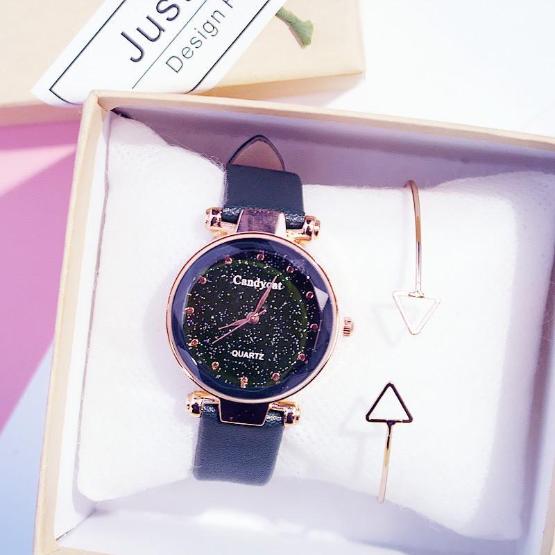 Đồng hồ nam nữ Candycat dây da thời trang đẹp rẻ DH25