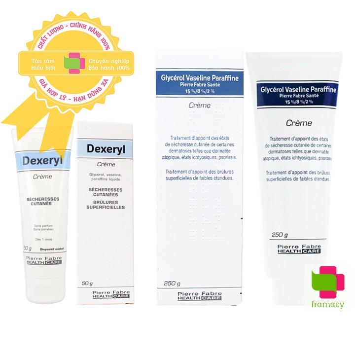 Kem nẻ dưỡng ẩm Dexeryl Creme, Pháp (50g+250g) chữa trị da nứt nẻ, chàm sữa, mẩn ngứa rôm sảy cho trẻ sơ sinh, người lớn