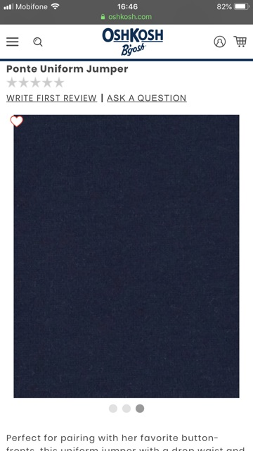 Đầm Oshkosh xuất xịn xanh navy