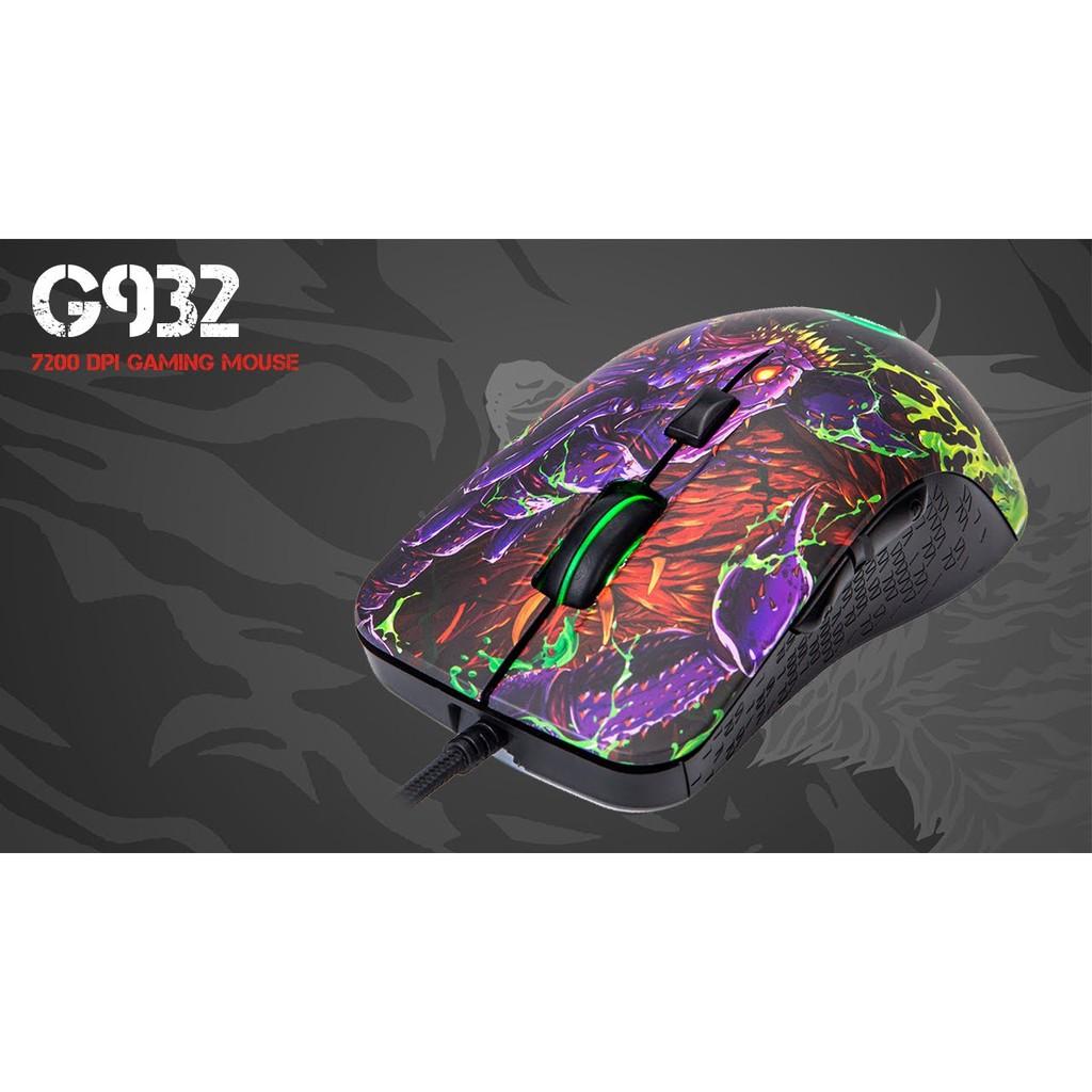 [Mã 267ELSALE hoàn 7% đơn 300K] Combo Chuột Quang Led MARVO G932 + Lót Chuột MARVO G20