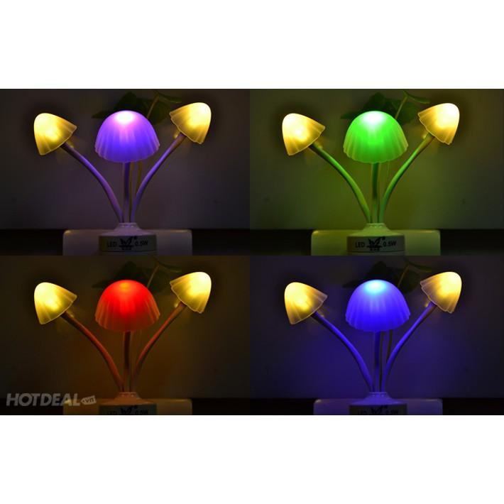 Đèn ngủ avatar hình nấm cảm ứng