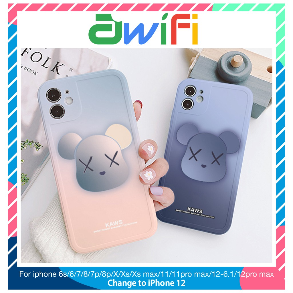 ỐP LƯNG IPHONE VIỀN NỔI BÓNG SƠN KAWS 6PLUS/6S/6SPLUS/7/7PLUS/8/8PLUS/X/XR/XS/11/12/PRO/MAX/PLUS/PROMAX-AWIFI B4-13