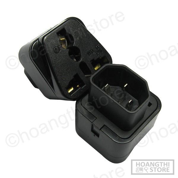 ✔ Đầu phích bộ ổ chuyển C13 IEC320-C14 UPS PDU sang ổ điện 2 hoặc 3 chấu. Chuyển bộ lưu điện UPS sang Ổ cắm