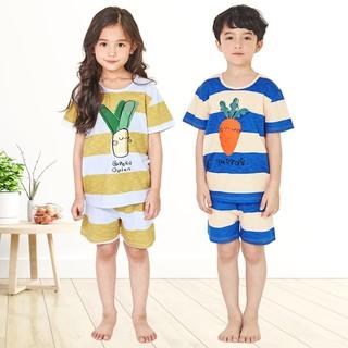 Bộ đồ ngắn bé gái, bé trai Unifriend Hàn Quốc UniNG01 cho bé 1-10 tuổi