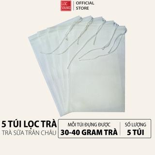 5 TÚI LỌC TRÀ Trà Sữa Trân Châu Tự Pha Hồng Trà Đen Lục Trà Lài Thái Xanh Thái Đỏ