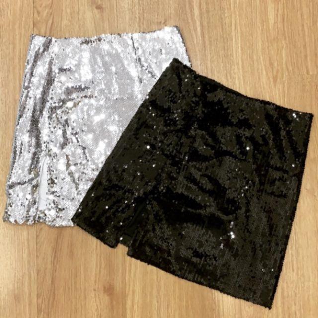 Chân váy kim sa đen