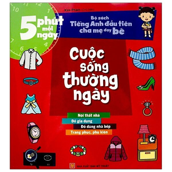 Sách: Combo 5 Phút Mỗi Ngày - Bộ Sách Tiếng Anh Đầu Tiên Cha Mẹ Dạy Bé (Lẻ 8 Cuốn)