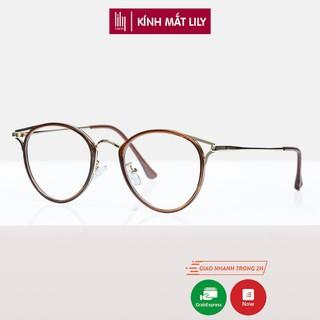 Gọng kính cận nữ Lilyeyewear kim loại, mắt mèo, nhiều màu - Y90029