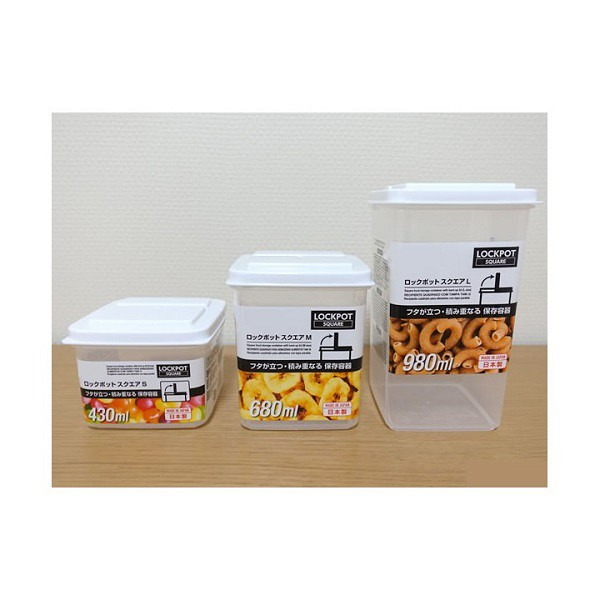 Hộp nhựa đựng thực phẩm nắp liền Lock Pack Nhật Bản