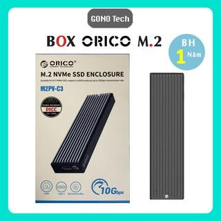 Box ổ cứng SSD M2 NVME M.2 SATA to USB Type-C làm ổ di động ORICO M2PV-C3 M2PF-C3