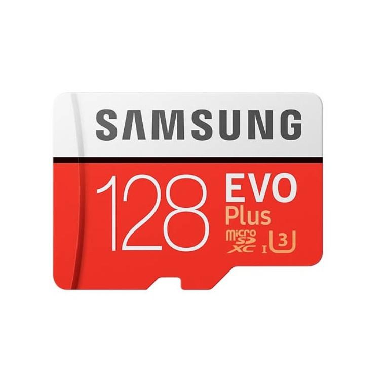 [ของแท้ รองรับ 4K] Samsung MicroSD EVO Plus 128GB UHS-I U3 Class 10 ประกันศูนย์ Samsung 10 ปี