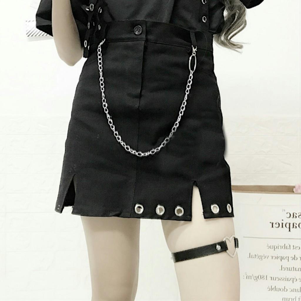 Chân Váy Kaki Chân Váy Xếp Ly Chân Váy Đen Chữ A Dáng Ngắn Váy Thiết Kế Xẻ Quyến Rũ