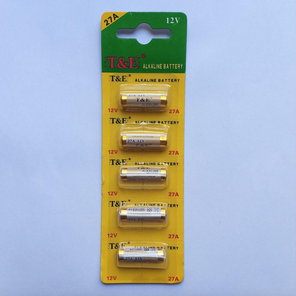 Pin 27A A27 12v CAMELION dùng cho bộ điều khiển cửa cuốn, chuông, đèn, remote báo trộm, báo cháy