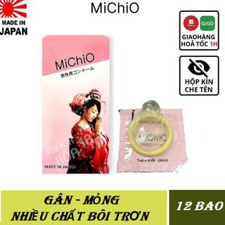 Bao cao su gân mỏng Michio [CHÍNH HÃNG 100%] ,Nhật Bản ,Hộp 12C - cần chi phải canh ngày-lai rai cày suốt tháng thumbnail