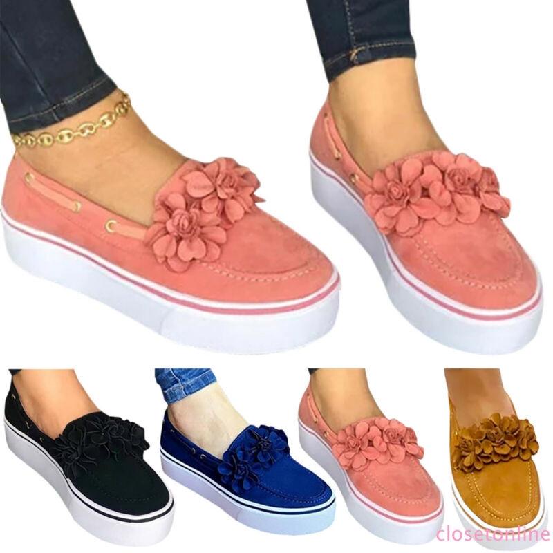Giày búp bê đính hoa xinh xắn dành cho nữ