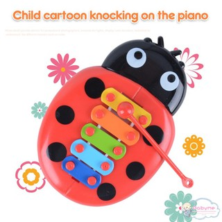 Baby Kids 5 Key Educational Musical Toys Ladybirds Xylophone Instrument