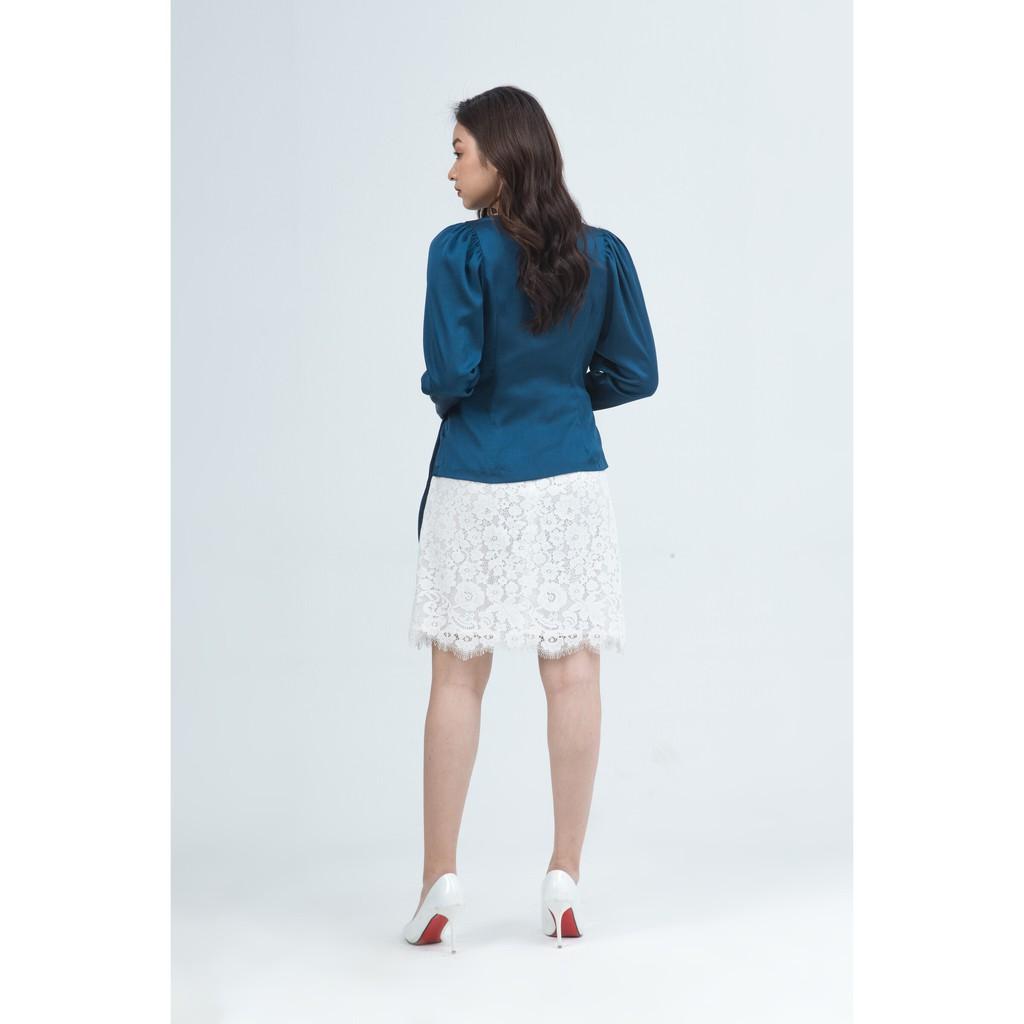 Ivy moda Chân Váy Ren 2 Lớp Chữ A Ms 31M5208