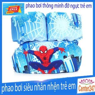 [ RẺ VÔ ĐỊCH ] phao tắm thông minh đỡ ngực cho bé trẻ em phao hình con nhện dành cho trẻ em cháu nhỏ CENTER247