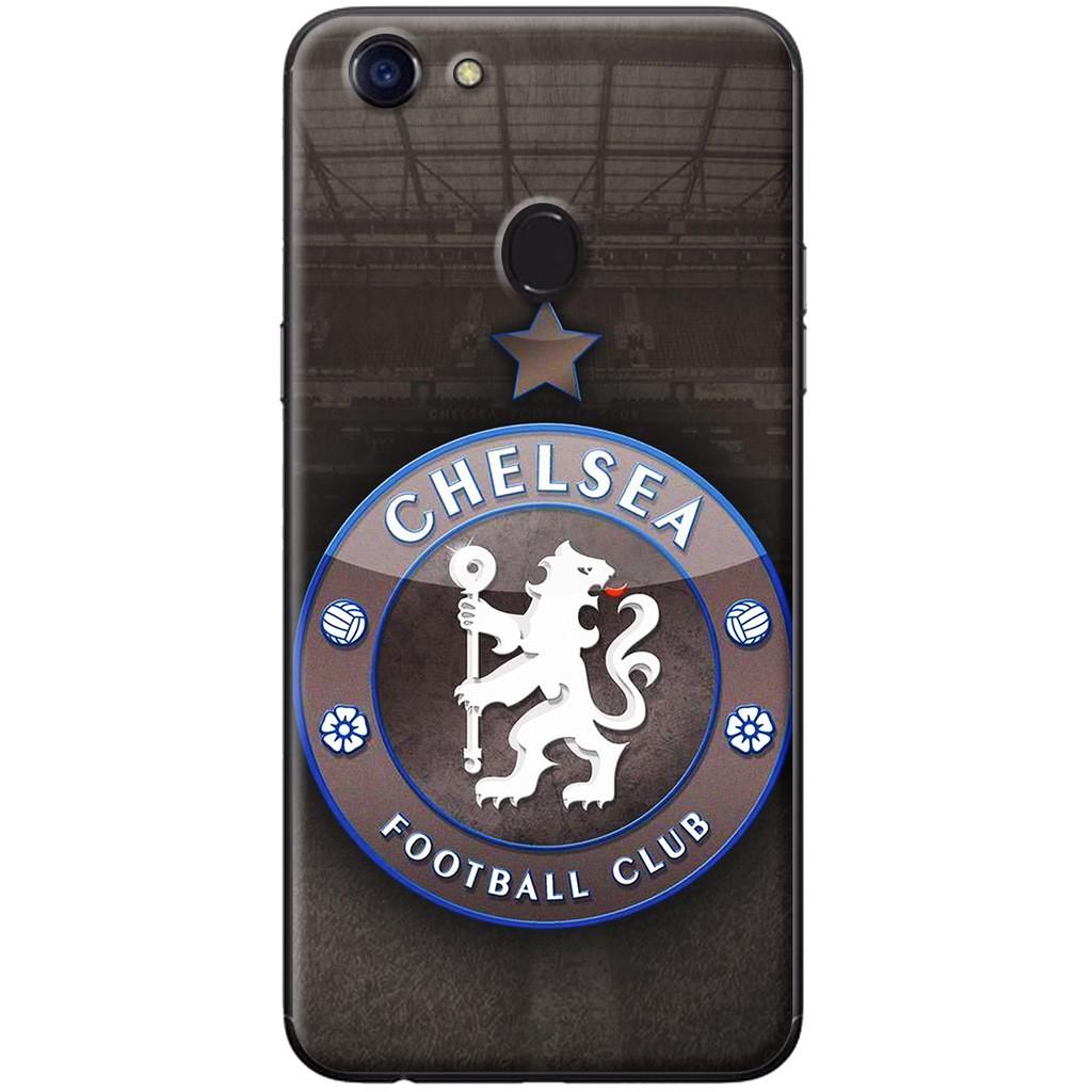 Ốp lưng dẻo OPPO F5 Logo Chelsea đen