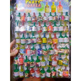 noel , giáng sinh ,đồ chơi pháo giật , chai giật nổ sinh nhật party popper ( vỉ 60 quả)