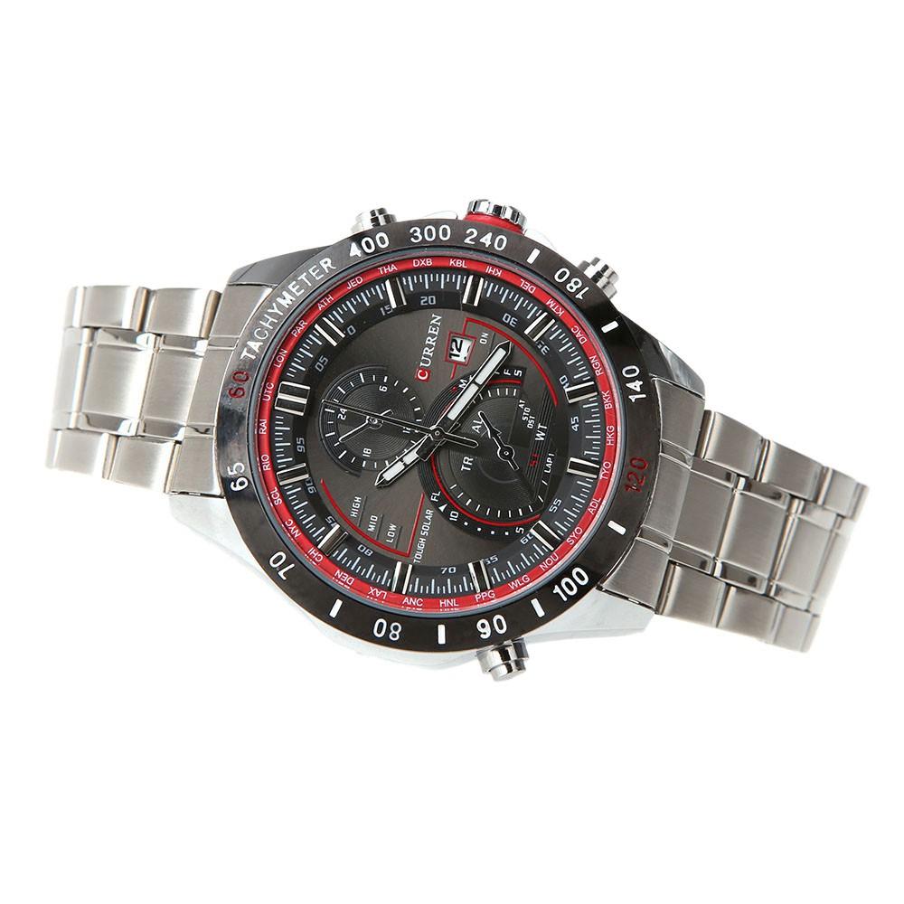 Đồng hồ analog nam hiển thị ngày chống thấm nước kiểu dáng doanh nhân ( máy quartz )