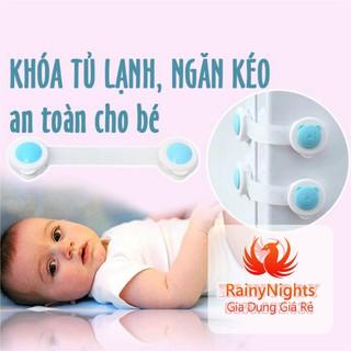 Khóa tủ an toàn cho em bé trẻ con chống kẹp tay mở cửa tủ lạnh ngăn kéo