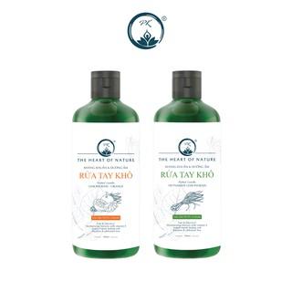 Combo 2 nước rửa tay khô cam ngọt, sả chanh PK sát khuẩn 100%- (100ml chai)