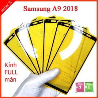 Kính cường lực Samsung A9 2018 full màn hình, Ảnh thực shop tự chụp, tặng kèm bộ giấy lau kính taiyoshop2 thumbnail