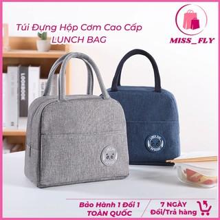 Túi đựng hộp cơm cao cấp Lunch Bag giữ nhiệt lâu tiện dụng - Túi đựng hộp cơm, thức ăn hai lớp giữ nhiệt chống thấm