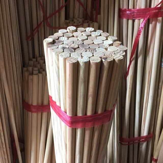 1 thanh gỗ tròn dài 1m5 đường kính phi 2cm giá 50k