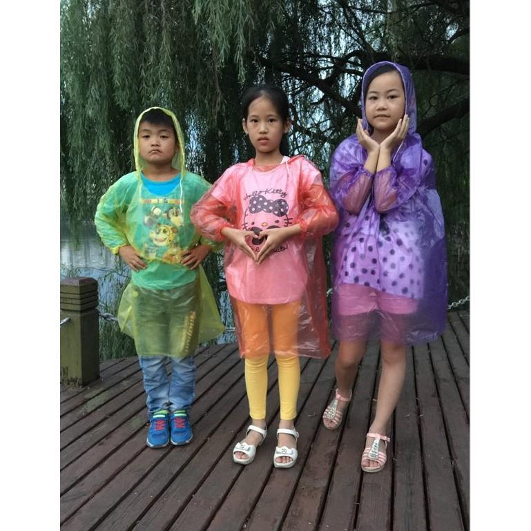 combo 20 áo mưa người lớn và trẻ em dùng 1 lần