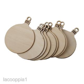 10x Wooden Round MDF Unfinished Supply Laser Cut Hanging Wood Tags Label