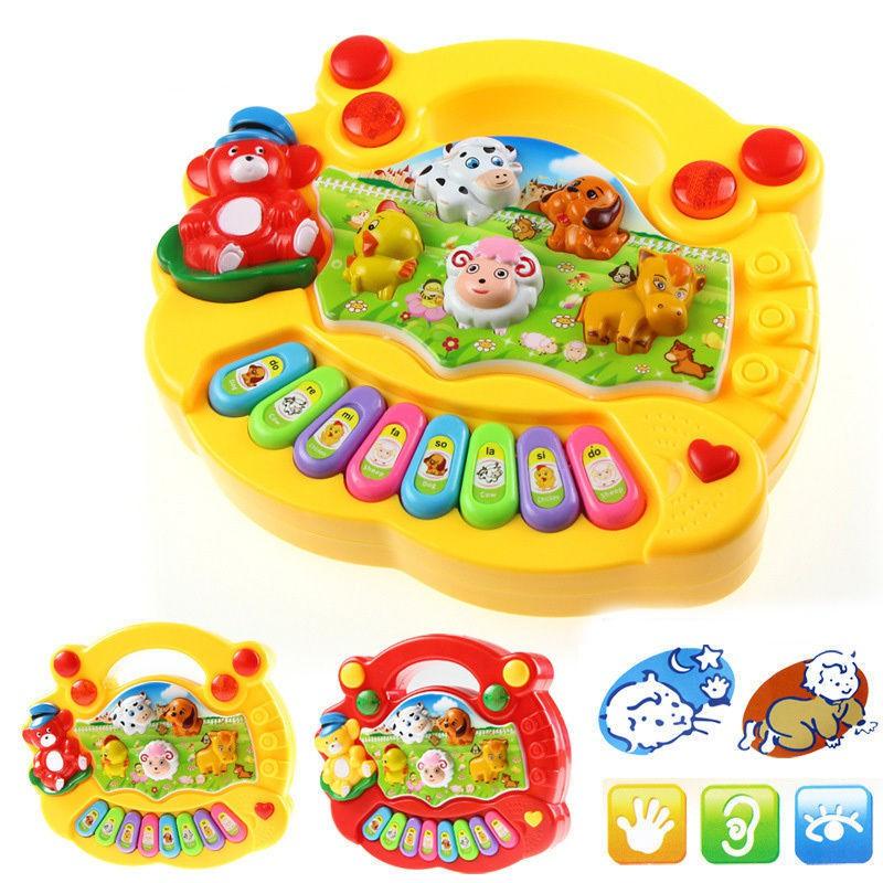 Bé Kids Musical Giáo Dục Animal Farm Piano Món Quà Đồ Chơi