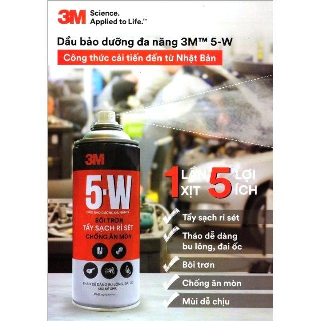 Xịt 3M 5w310ml tẩy rửa bôi trơn, dưỡng sên xích, chống rỉ sét, có vòi dài (dầu nhớt bảo dưỡng)