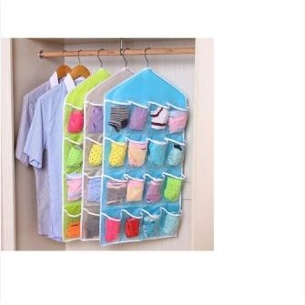 Túi treo 16 ô: quần chíp, khăn, găng tay, tất gọn gàng