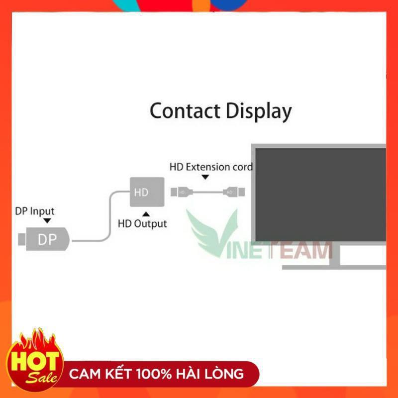 [Hàng xịn]Đầu dây cáp chuyển đổi DisplayPort to HDMI-DisplayPort ra HDMI-Cáp Chuyển DisplayPort sang HDMI Full HD