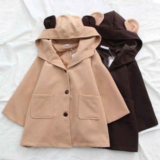 [Tưng Bừng Khai Trương] Nhập WAPCK111 giảm 25k đơn từ 200k - áo Khoác Tai Dạ Gấu Mặc Cực kỳ dễ thương