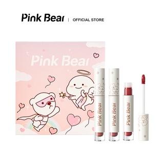 Son Kem Bóng Bộ Mỹ Phẩm Pink Bear Glass Shine Gloss Liquid Hydrating Long-lasting 3pcs thumbnail