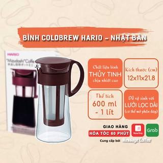 Bình pha cà phê Coldbrew, pha trà thuỷ tinh cao cấp có lưới lọc chịu nhiệt cao thương hiệu Hario của Nhật Bản