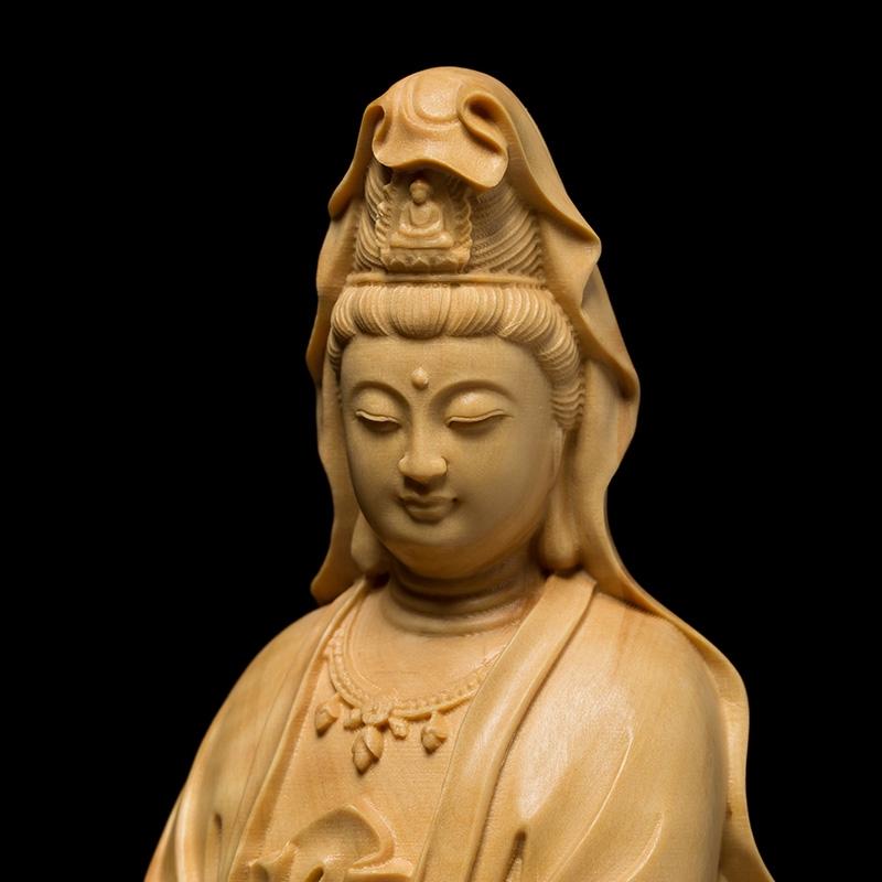Chuông Gió Gỗ Khắc Hình Phật Giáo