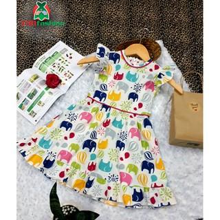 Váy đầm bé gái XT81Fashion cánh tiên dáng xòe 2-12 tuổi, Cotton 100% mềm mát, đi học, dạo phố, dự tiệc