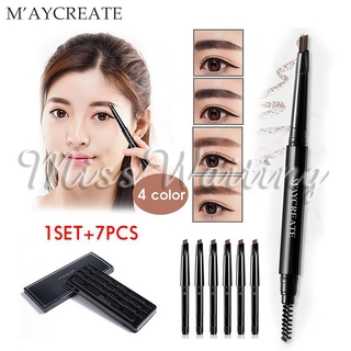 MAYCREAT Thrush Pen Eyebrow Pencil Eyebrow Cream Makeup Multi Function 0.35g*7 Eye Make Up Cosmetics Cosmetology