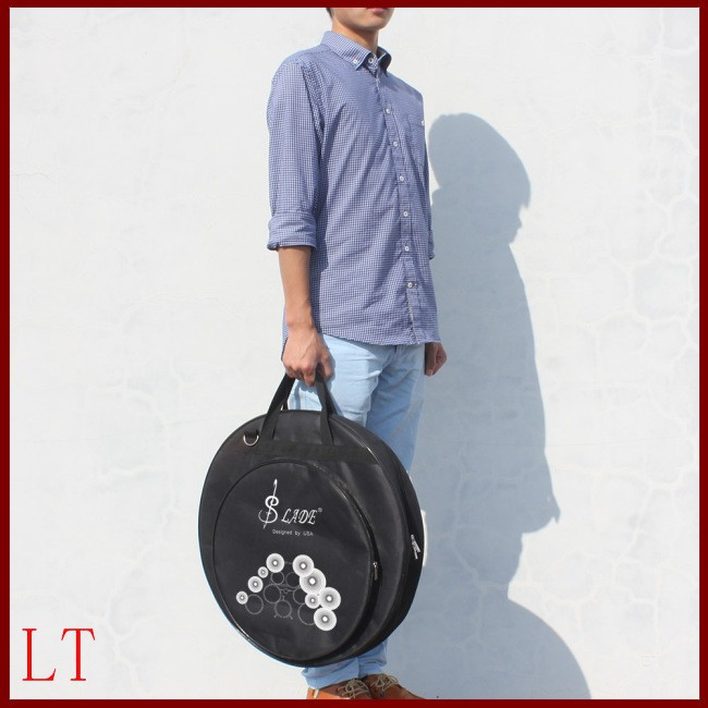 21 Inch Three Pockets Cymbal Bag Backpack with Removable Divider Shoulder Strap