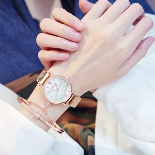 Đồng hồ nữ Dotime thời trang Candycat dây lưới nam châm đẹp ZO34