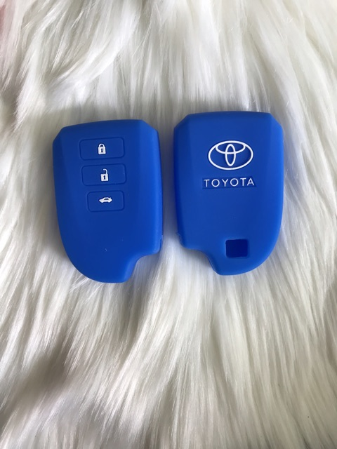 Bao Silicone bọc bảo vệ chìa khoá thông minh Toyota Yaris Vios 3 nút