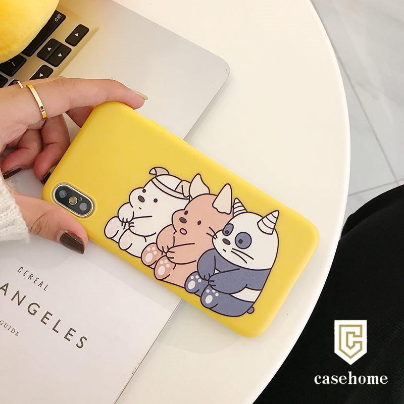 Ốp Lưng Dẻo Gấu Cho IPhone 6 6s 7 8 6Plus 6sPlus 7Plus 8Plus X