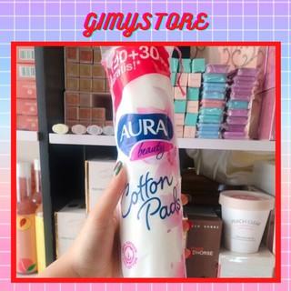 Bông Tẩy Trang Aura 150 Miếng 100% Cotton thumbnail