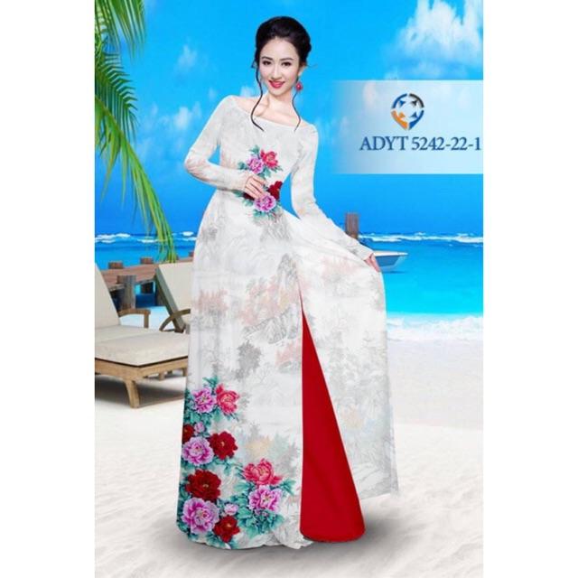 Vải áo dài hoa mẫu đơn - 3005546 , 1110263214 , 322_1110263214 , 240000 , Vai-ao-dai-hoa-mau-don-322_1110263214 , shopee.vn , Vải áo dài hoa mẫu đơn