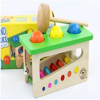 Đồ chơi gỗ – Hộp đập bóng rung chuông