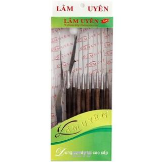 Bộ dụng cụ lấy ráy tai Lâm Uyên inox chuyên nghiệp 10 món với hd.shop mọi sản phẩm đều là chính hãng